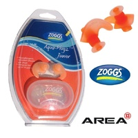 ZOGGS JUNIOR AQUA EAR PLUGS - ORANGE, SWIMMING EAR PLUGS, SILICONE EAR PLUGS