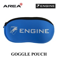 ENGINE GOGGLE POUCH BLUE, GOGGLE CASE, SWIMMING GOGGLE CASE