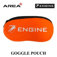 ENGINE GOGGLE POUCH FLURO ORANGE, GOGGLE CASE, SWIMMING GOGGLE CASE