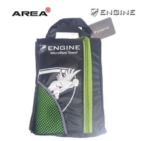 ENGINE MICROFIBER TOWEL GREEN, SWIMMING TOWEL, CHAMOIS TOWEL, QUICK DRY TOWEL