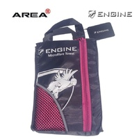 ENGINE MICROFIBER TOWEL PINK, SWIMMING TOWEL, CHAMOIS TOWEL, QUICK DRY TOWEL