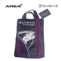 ENGINE MICROFIBER TOWEL PURPLE, SWIMMING TOWEL, CHAMOIS TOWEL, QUICK DRY TOWEL