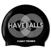 FUNKY TRUNKS HAVE BALLS Swim Cap, SWIMMING CAP, SILICONE SWIM CAP,SWIMMING GEAR