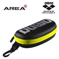ARENA GOGGLE CASE BLACK / SILVER / YELLOW, SWIMMING GOGGLE BAG, SWIMMING GOGGLE CASE