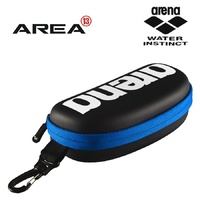 ARENA GOGGLE CASE BLACK / WHITE / ROYAL, SWIMMING GOGGLE BAG, SWIMMING GOGGLE CASE