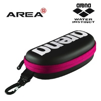 ARENA GOGGLE CASE BLACK / WHITE / FUCHSIA, SWIMMING GOGGLE BAG, SWIMMING GOGGLE CASE