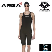 ARENA POWERSKIN ST WOMEN'S RACE SUIT BLACK, SWIMMING RACE SUIT, FEMALE SWIM RACE SUIT