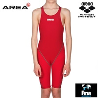 ARENA POWERSKIN ST 2.0 JUNIOR GIRLS RACE SUIT RED, SWIMMING RACE SUIT, JUNIOR SWIM RACE SUIT
