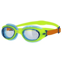 ZOGGS SONIC AIR JUNIOR CHILDREN'S SWIMMING GOGGLES 6 - 14 YEAR, GREEN & ORANGE