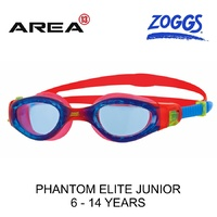 ZOGGS SWIMMING GOGGLES PHANTOM ELITE JUNIOR 6 - 14, RED / BLUE CHILDRENS SWIMMING GOGGLES