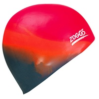 ZOGGS MULTI COLOUR MOULDED SILICONE SWIM CAP - MULTI ORANGE