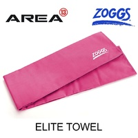 ZOGGS ELITE TOWEL - PINK , DELUXE MICRO-FIBRE ALL PURPOSE SPORTS TOWEL QUICK DRYING