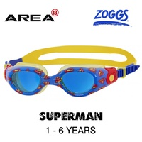 ZOGGS DC Super Heroes SUPERMAN Printed Goggles 1 - 6  YEARS, CHILDREN'S SWIMMING GOGGLES