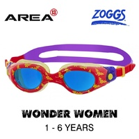 ZOGGS DC Super Heroes WONDER WOMEN Printed Goggles 1 - 6  YEARS, CHILDREN'S SWIMMING GOGGLES