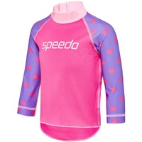 SPEEDO TODDLER GIRLS LOGO LONG SLEEVE SUN TOP BELLA LOVE / TULIP, GIRLS RASHIE