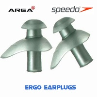 SPEEDO ERGO EARPLUGS - SILVER, SWIMMING EAR PLUGS, AQUATIC EAR PLUGS