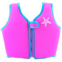 ZOGGS STARFISH SWIM JACKET PINK BLUE, CHILDRENS SWIM VEST, LEARN TO SWIM