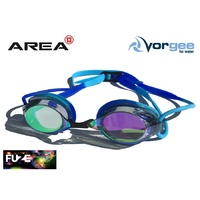 VORGEE MISSILE FUZE SWIMMING GOGGLES, MIRRORED, BLUE & BLUE , SWIMMING GOGGLES
