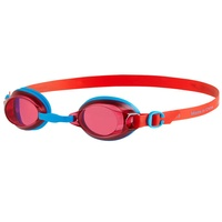 SPEEDO JUNIOR JET LAVA RED / BLUE, 6 - 14 YEARS SWIMMING GOGGLES, CHILDREN'S GOGGLES