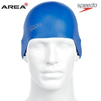 SPEEDO PLAIN MOULDED SILICONE SWIM CAP BLUE, SILICON SWIMMING CAP, SWIM CAPS