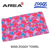 ZOGGS MISS ZOGGY SWIM TOWEL - PINK - CHILDREN'S BEACH TOWEL