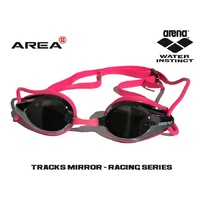 ARENA TRACKS RACING SWIMMING  GOGGLES, HOT PINK,  MIRRORED, TRIATHLON GOGGLES