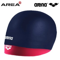 ARENA SMARTCAP LONG HAIR SWIM CAP NAVY FUSCHIA, SWIMMING CAP, SILICONE SWIM CAP,