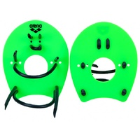 ARENA ELITE HAND PADDLE, SWIMMING HAND PADDLES, ACID LIME/BLACK