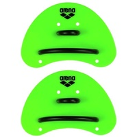 ARENA ELITE FINGER PADDLE, SWIMMING HAND PADDLES, ACID LIME/BLACK