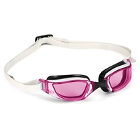 MP Michael Phelps XCEED LADIES Swimming Goggles WHITE - PINK LENS, RACING GOGGLES Aqua Sphere