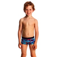 FUNKY TRUNKS TODDLER BOYS MESHED UP SQUARE TRUNK SWIMMING , BOYS SWIMWEAR