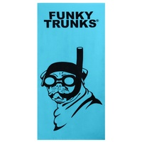 FUNKY TRUNKS SNORKEL PUG TOWEL, BEACH TOWEL, SWIM TOWEL, COTTON TOWEL, FUNKY