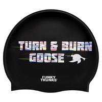 FUNKY TRUNKS BURN GOOSE Swim Cap, SWIMMING CAP, SILICONE SWIM CAP,SWIMMING GEAR