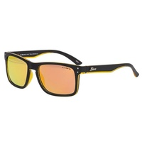 LIIVE VISION SUNGLASSES - CHEAP THRILL REFLECTIVE  MATT BLACK ORANGE - LIVE SUNGLASSES