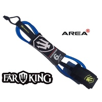 FAR KING 6ft SUPERIOR Surfboard Leg Rope / SURFBOARD LEASH BLUE & FLURO YELLOW