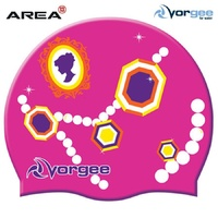 VORGEE PINK JEWELS Swim Cap, SWIMMING CAP, SILICONE SWIM CAP, SWIMMING GEAR