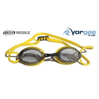 VORGEE MISSILE SWIMMING GOGGLES, SMOKED LENS, YELLOW, SWIMMING GOGGLES
