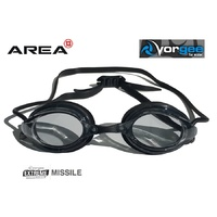VORGEE MISSILE SWIMMING GOGGLES, SMOKED LENS, BLACK, SWIMMING GOGGLES