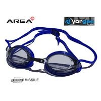 VORGEE MISSILE SWIMMING GOGGLES, SMOKED LENS, BLUE, SWIMMING GOGGLES