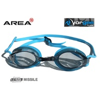 VORGEE MISSILE SWIMMING GOGGLES, SMOKED LENS, LIGHT BLUE, SWIMMING GOGGLES