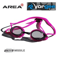 VORGEE MISSILE SWIMMING GOGGLES, SMOKED LENS, PINK, SWIMMING GOGGLES