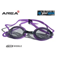 VORGEE MISSILE SWIMMING GOGGLES, SMOKED LENS, PURPLE, SWIMMING GOGGLES