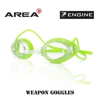 ENGINE WEAPON BLOCK GREEN SWIMMING GOGGLES, SWIMMING GOGGLES
