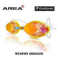 ENGINE WEAPON RETRO YELLOW SUNSHINE SWIMMING GOGGLES, , SWIMMING GOGGLES