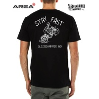 SLEDGEHAMMER INDUSTRIES  STAY FAST BIKER T SHIRT BLACK - MOTORCYCLE TEE