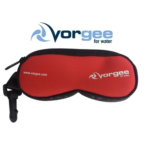 VORGEE GOGGLE POUCH RED, GOGGLE BAG, SWIMMING GOGGLES BAG