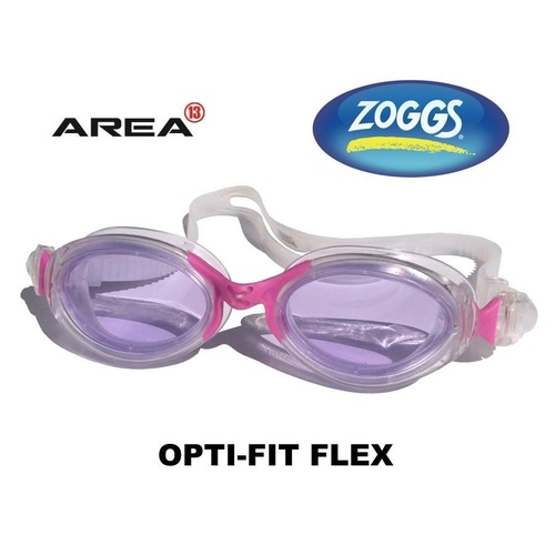 ZOGGS SWIMMING GOGGLES OPTI-FIT FLEX, CLEAR PINK, SWIMMING GOGGLES