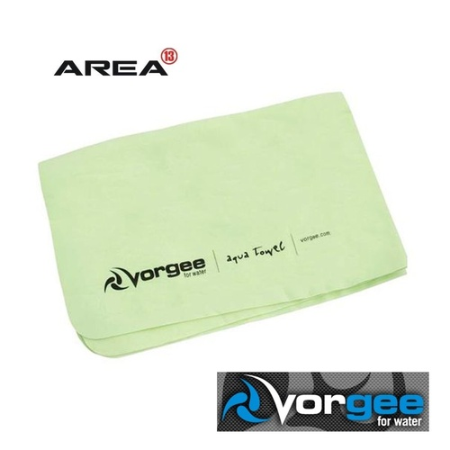 VORGEE AQUA TOWEL GREEN, SWIMMING TOWEL, CHAMOIS TOWEL, QUICK DRY TOWEL, VORGEE