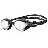 ARENA COBRA TRI MIRROR SWIMMING GOGGLES, SILVER / BLACK , TRIATHLON GOGGLE
