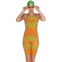 Arena Powerskin Carbon Air ² Open Back Female Race Suit Lime - Orange, Fina Approved Swimming Race Suit